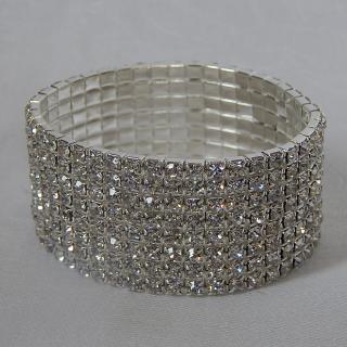 Expandable Diamantee Cuff Bracelet
