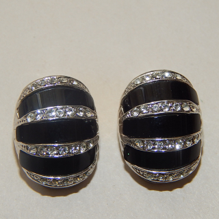 New Deco styled clip on Earrings